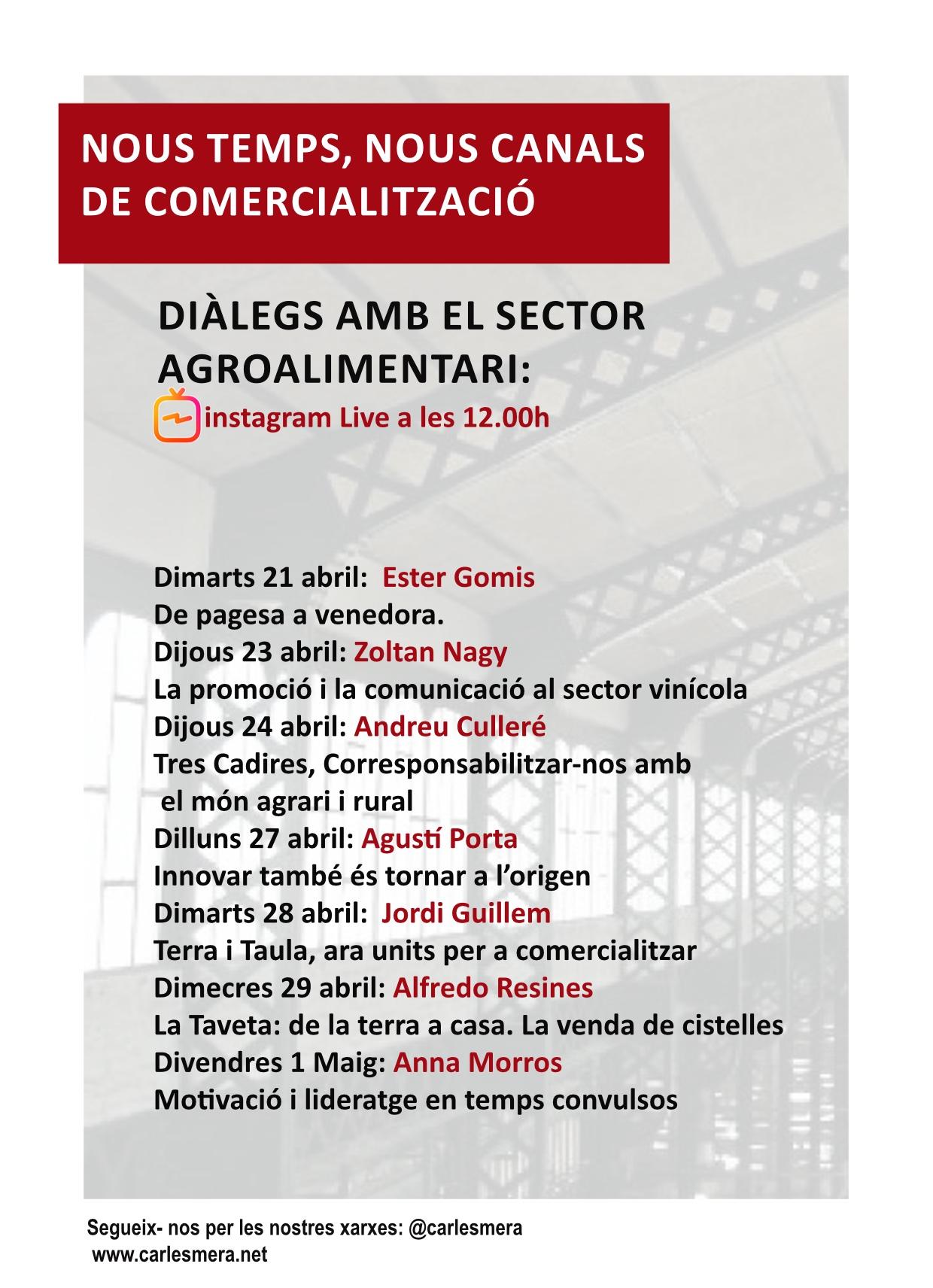 Dialogos sector agroalimentario
